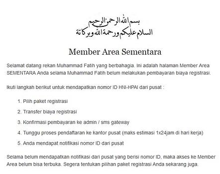 Cara Mendaftar Menjadi Agen HNI HPAI di hpa-network.com4