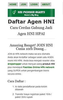 Cara Mendaftar Menjadi Agen HNI HPAI di hpa-network.com