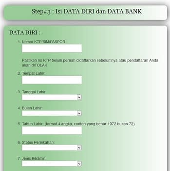 Cara Mendaftar Menjadi Agen HNI HPAI di hpa-network.com- isi data bank